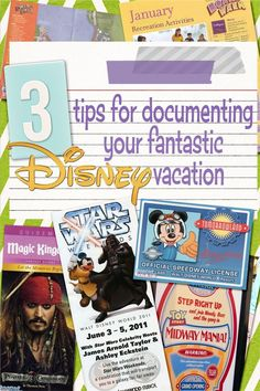 Great ideas if you plan to scrapbook or put memories in an album/memory book, etc.