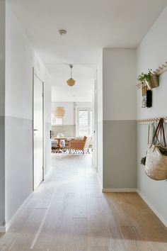 bright hallway and entrance