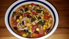 Mexican bean, corn & cilantro soup