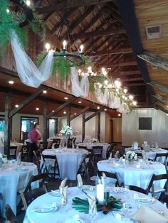 Decorated Chandeliers and Reception Tables