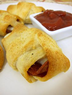 Crescent Pepperoni Roll-Ups - Use reduced fat crescent rolls, lite string cheese and turkey pepperoni and these will be great and very WW friendly.