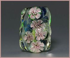 Lampwork bead by Ikuyo Yamanaka