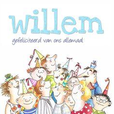 Gezellige verjaardagskaart. Design Birthday Card / Verjaardagskaart by Enny Schouten www.kaartje2go.nl