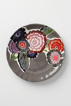 I had the good fortune of finding these beautiful plates as Anthropologie.  They make for a beautiful table.