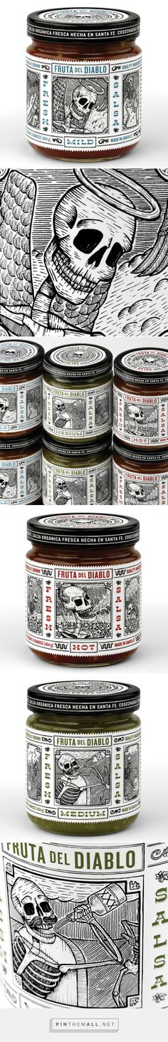 Fruta Del Diablo Salsa by Moxie Sozo Design + Advertising curated by Packaging Diva PD. Not new but I couldn't resist these awesome packaging illustrations.
