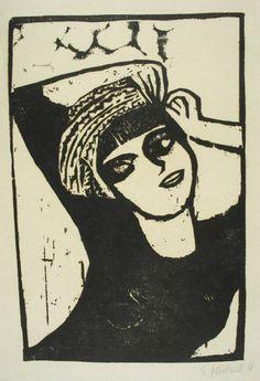 Erich Heckel (1883-1970) Naast het schilderen behoorde vooral de grafiek en met name de houtsnede tot de kunstvormen, waarmee de kunstenaars van de Brücke een eigen en innovatieve uitdrukkingsvorm bereikten.