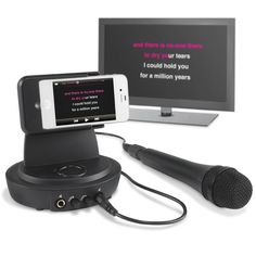 The iPhone To Television Karaoke Player - Hammacher Schlemmer