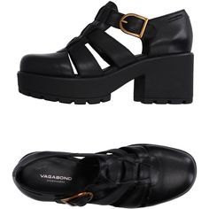 Vagabond Sandals (£115) ❤ liked on Polyvore featuring shoes, sandals, black, black buckle shoes, genuine leather shoes, round cap, kohl shoes and buckle sandals