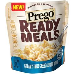 Prego Ready Meals Creamy Three Cheese Alfredo Rotini, 9 oz