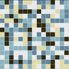 I Love Color Collection: Chocolate Blues Glass Mosaic Tile Blend $7.95 per sheet at MosaicTileSupplies.com