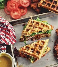 Fried Chicken and Waffle Sandwich: The 21 Best Sandwiches & Wraps You'll Ever Eat.