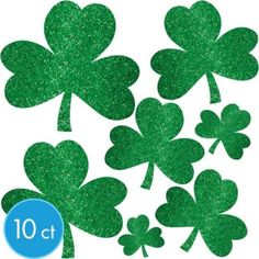 9 Assortment Shamrock Cutouts Irish St Patrick/'s Day Hanging Decorations Event