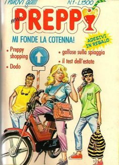 Preppy, copertina del 1 numero. Donna con cartella Naj Oleari Italo Disco, Everything And Nothing, Vintage Magazines, Comic Art, Pin Up, Fantasy, Comics, Cover, Preppy