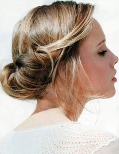 Cute Hair, updo, easy, messy