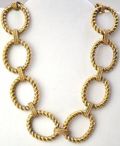 RLL Ralph Lauren Metal Antique Brass Necklace