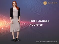 Our#Bamboo#styles are easy to mix and match. Check out our#latest Bamboo and#Linen#collections.#3/4 sleeves frill jacket online #australian #new zealand #canadian #usa #trends #lifestyle #fashion #shop #online