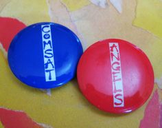 Comsat Angels badges (1982)