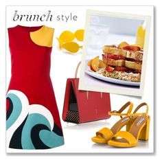 Brunch Goals by elli-argyropoulou on Polyvore featuring polyvore fashion style RED Valentino Fratelli Karida Christian Louboutin Kim Rogers clothing sandals bracelet minidress LeatherBag brunchgoals