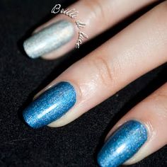Give your nails a party feel with a swipe of metallic blue polish.