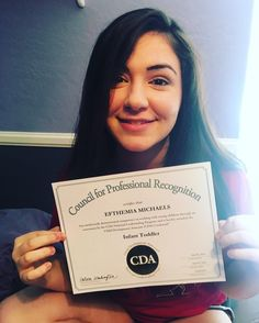 Congrats to #EVIT Early Childhood Education alum Efthemia Michaels for receiving her Child Development Associate (CDA) national credentials!  #EVITAlumni #WeAreEVIT