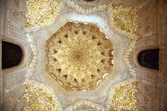 Alhambra ceiling. star made of carved stalactices inset with polished quartz for maximum glow.