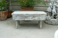 Shabby White Garden Bench    $45