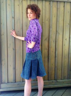 Pleated Denim Skirt View C..tutorial on how to turn old jeans into a pleated skirt