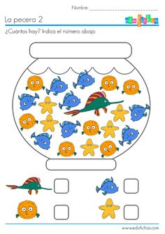 la pecera cuantos hay 1  ¿cuantos peces de cada tipo hay en estas peceras? Los…