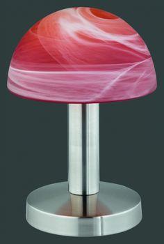 5990 - TRIO - dotyková lampa - matný nikel - oranžový alabaster