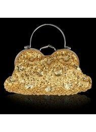Fijn goud pailletten kralen bruiloft â—† 0163