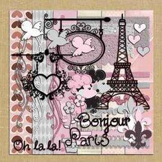 Paris Oh La La Digital Scrapbook Kit