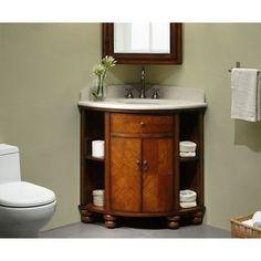 Corner sink and vanity