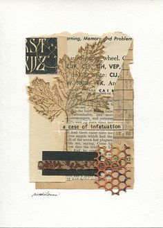 collage art A case of infatuation . Mixed-media collage with vintage papers, printed papers, fabric, ink and plastic. Paper Collage Art, Collage Art Mixed Media, Paper Art, Collage Book, Canvas Collage, Cut Paper, Journal Stickers, Art Journal Pages, Art Journals