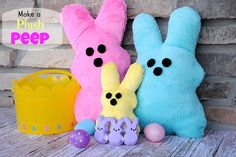 Plush Peep - Just in time for Easter. Kids and adults alike will go crazy for this Easter sewing craft.
