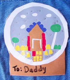 Use the kids artwork as gift tags!