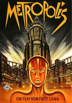 """""""Metropolis"""" is a German movie from 1927 that was made during the Weimar Republic a few years before Hitler gained power. Many of the ideas in this movie were used as a source of inspiration for Nazis and Utopians because of the futuristic portrayal of the city of Metropolis."""