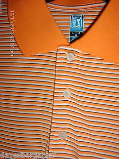 PGA TOUR SHORT SLEEVE 3 BUTTON COLLARED SPORTS / GOLF SHIRT MEN`S LARGE NWT http://stores.ebay.com/davesbargains7