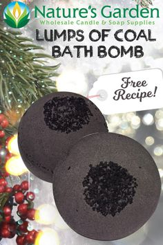 Free Lumps of Coal Bath Bomb Recipe by Natures Garden.
