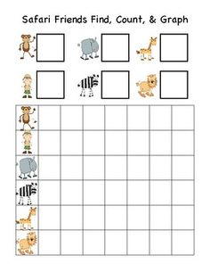 Safari Friends Find, Count, & Graph Math Activity - {Graph