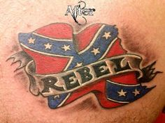 Rebel Flag Tattoo - Cool Rebel Flag Tattoos, http://hative.com/...,