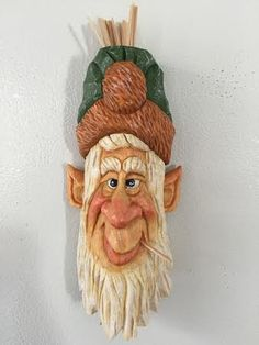 Fridge Magnet - Toothpick Holder carved by RWK Woodcarving