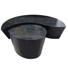 Tessellated Stone Coffee Table Set In The Style of Karl Springer