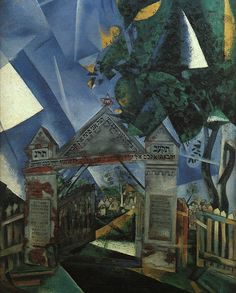 Marc Chagall, Cemetery Gates, 1917, Oil, Canvas