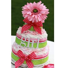 Girl Nappy Cake