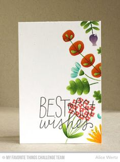 Birthday Wishes & Balloons, Fall Florals - Alice Wertz  #mftstamps