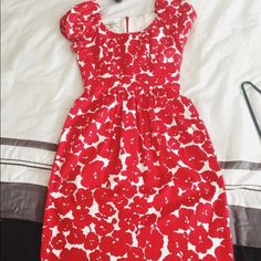 Spotted while shopping on Poshmark: Beautiful red flower dress! #poshmark #fashion #shopping #style #Donna Ricco #Dresses & Skirts