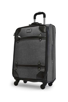 Grey Denim Luggage 4-Piece Luggage Set by Adrienne Vittadini on @HauteLook