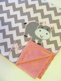 Chevron Baby Blanket Minky Baby Blanket by FunnyFarmCreations