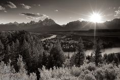 Last light at Snake River Overlook, GTNP, WY