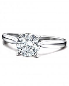 Round-Diamond Engagement Ring from Cartier